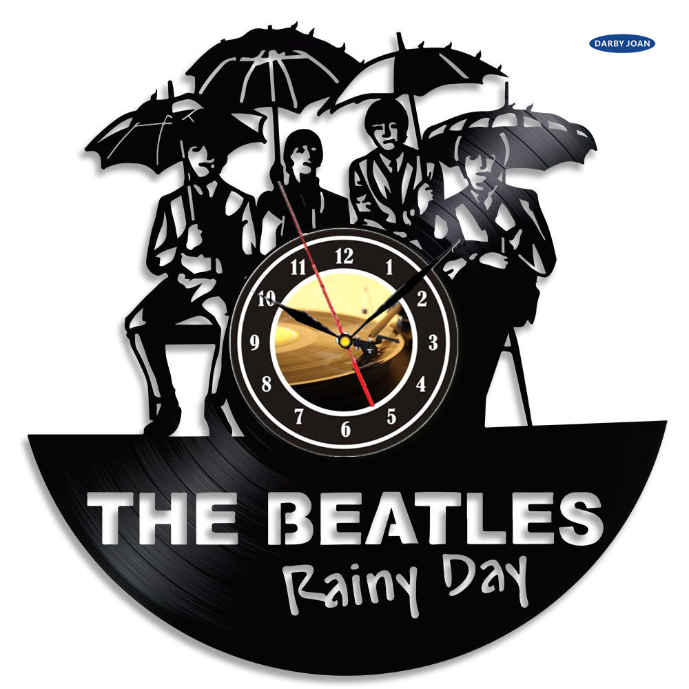 Duvar collection vinyl record wall clock the beatles music nursery duvar collection vinyl record wall clock the beatles music nursery art cd clock watch creative duvar saati watch home decoration in wall clocks from home amipublicfo Images