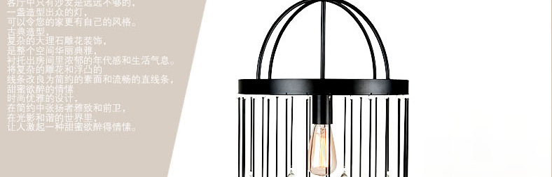 Modern iron cage pendant light hallway restaurant study balcony bedroom  living room fashion Rural round K9 crystal lamps ZA - us469 bd15893f5e4