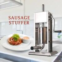 GZZT 3L/5L/7L Большой Руководство колбасный шприц Maker машина вертикальная нержавеющая сталь колбаса наполнителя Кухня Мясо инструменты