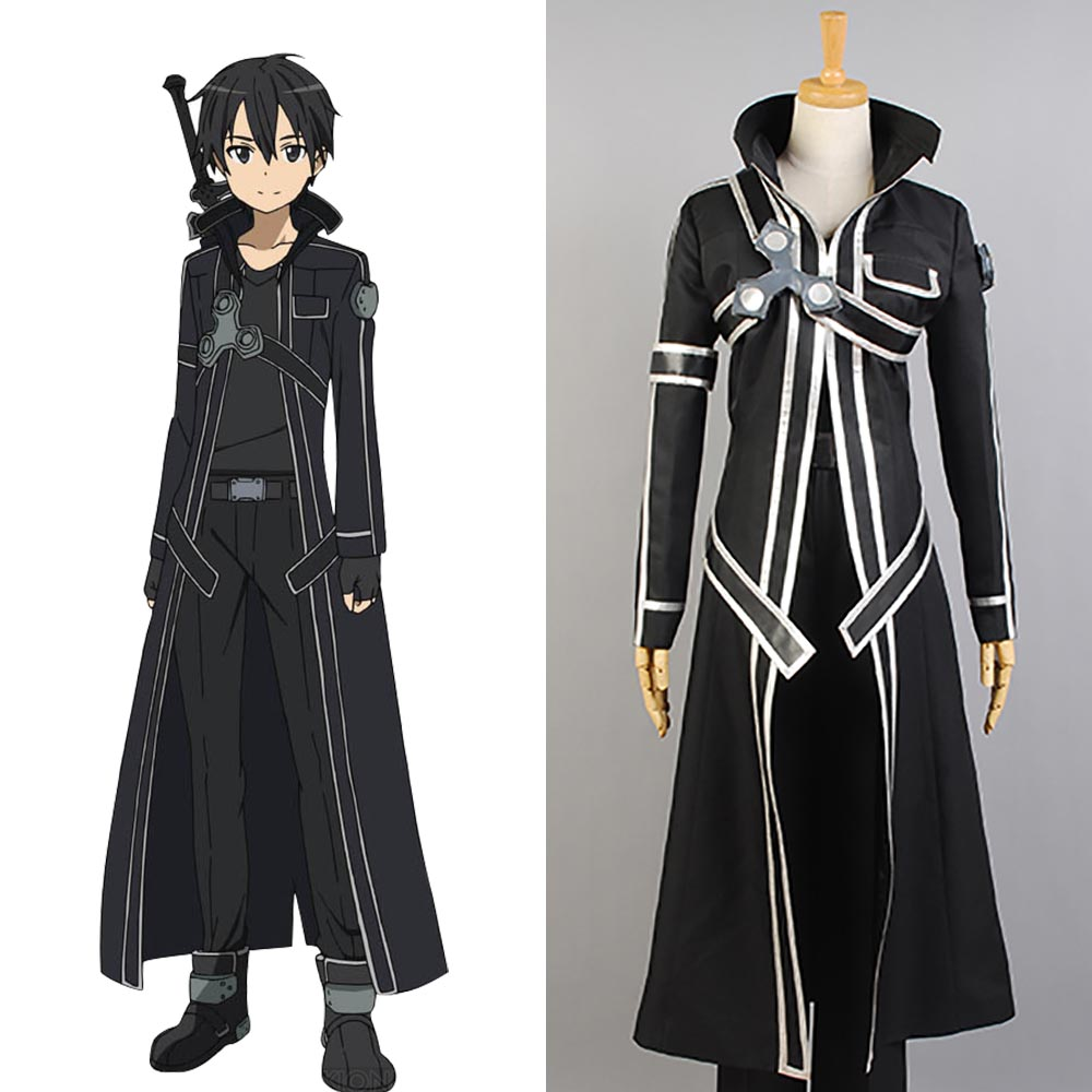 Sword Art Online Kazuto Kirigaya Cosplay Costume Halloween Full Set Outfit Carnival Christmas  anime clothes SAO Cool Cloak