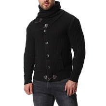 new arrival men turtleneck sweater desgin button cashmere winter oversized
