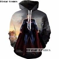 PLstar Cosmo Brand Clothing Superhero Movie 3D Hoodies Superman Printed Sweatshirt Men Women 2018 Hipster Hoody