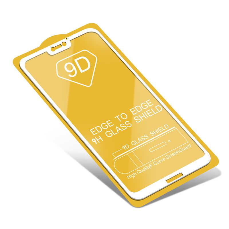 1000 шт 9D закаленное стекло полное покрытие для Xiaomi Mi 9 8 SE Lite 6 6X F1 F2 Play изогнутые края Защитная пленка с желтая коробка