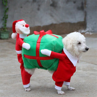 Kleine Honden Kostuum Kleding Little Honden Overalls Hond Kat Santa Gift Kostuum Fancy Puppy Apparel Jasje Kerst Dressup