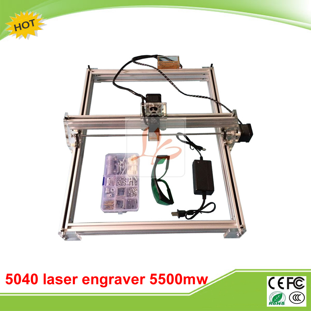 LY 5040 5500MW Blue Violet Laser Engraving Machine Mini DIY Laser Engraver IC Marking Printer Carving Size 50*40CM blue laser head engraving module wood marking diode 2 5w glasses circuit board for engraver wood metal plastic carving mayitr