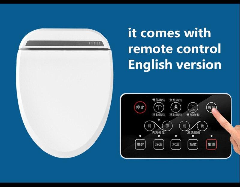 Inteligente inodoro con calefacción Control remoto inteligente bidet Asientos de inodoro WC asiento inodoro tapa del inodoro automático femenina cubierta