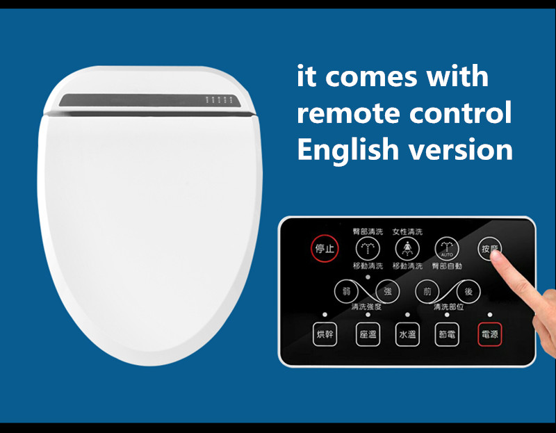 Intelligent Heated Toilet Seat Remote Control Smart Bidet
