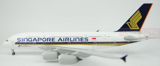 XX2398 JC Singapore Wings Airlines 9V-SKS 1:200 A380 commercial jetliners plane model hobby