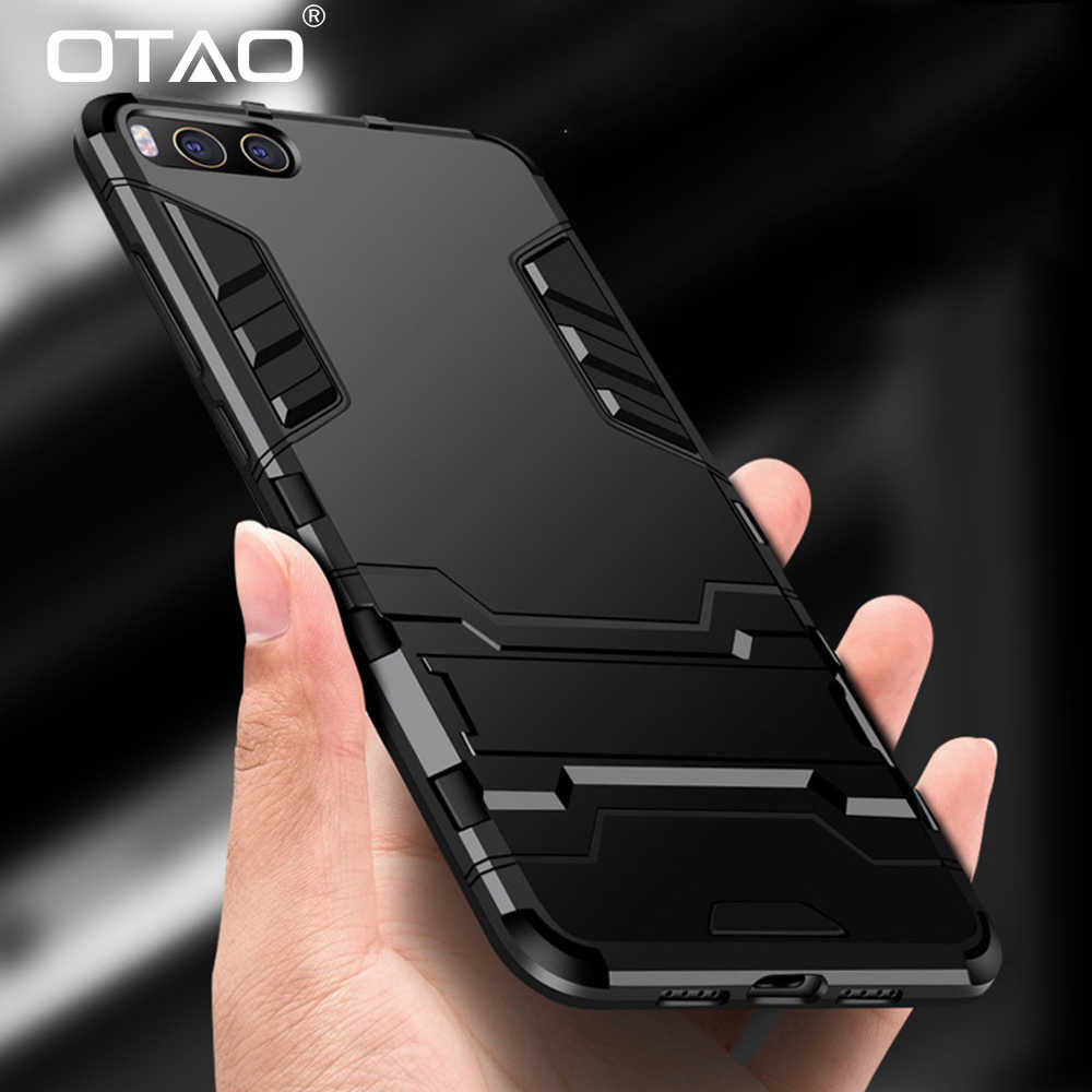 OTAO New Shockproof Armor Phone Case For Xiaomi 6 8 SE 5 5S 5X Cases Luxury Silicone Kickstand Hard Cover For Redmi 5 5A Plus