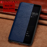 Brand Cenmaso Genuine Leather Case For Huawei Mate 9 Porsche Design Mate9 Pro Back Cover Case