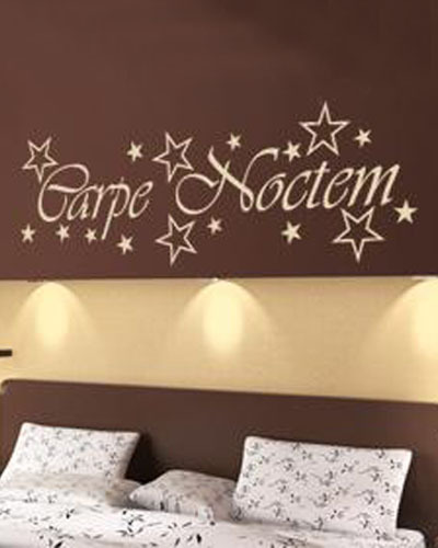 Latin Wall Stickers Text Carpe Noctem Seize The Night Quotes Bedroom Wall Art Decal