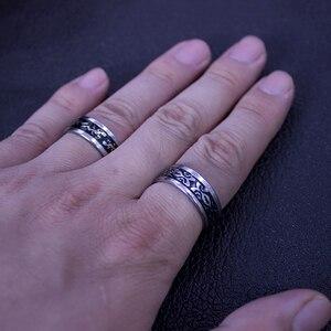 Image 5 - 24 pcs 여성을위한 뜨거운 판매 복고풍 스타일 펑크 범프 크로스 스테인레스 스틸 반지 남성 패션 도매 보석 대량