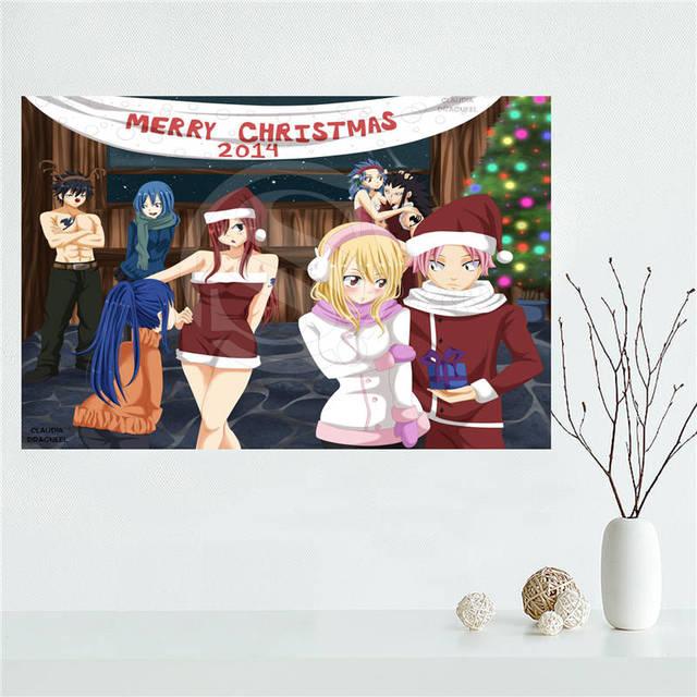 E #627L57 Personnalisé Fairy Tail Anime Toile Peinture Mur Soie Affiche  Du0027impression De
