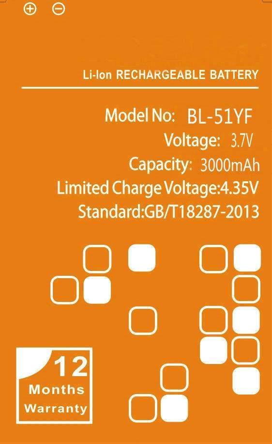 3000mAh BL-51YF <font><b>Battery</b></font> for LG <font><b>G4</b></font> H818 H810 H815 F500 VS986 LS991 F500L BL51YF