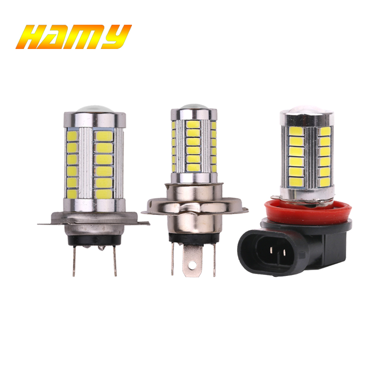 1x Car LED Bulb H4 H7 H11 Headlight Fog Lamp DRL Auto Daytime Running Light Reverse Lamp Super Bright White 12V 5630 33SMD