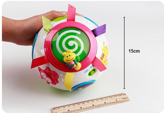 Bébé puzzle jouet vilain spin ball électrique musique lumière multifonctionnel enfants interaction balance cubes jouets - 6