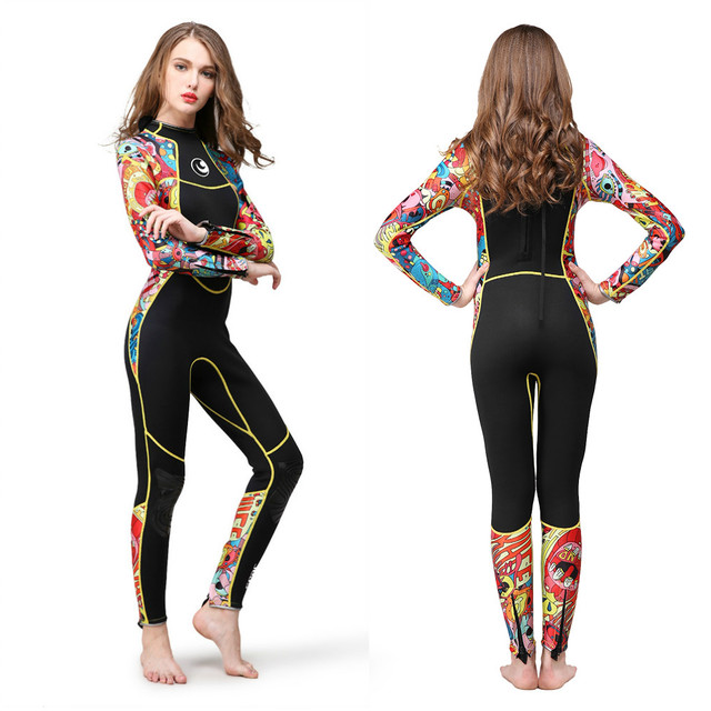 Hisea  3mm women neoprene wetsuit color stitching Surf Diving Equipment Jellyfish h3