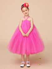 Fashion pink Little Girls dresses Ball Gown Tulle Girls Pageant Dresses TUTU dress kids girls party