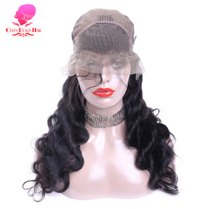 Image 4 - QUEEN BEAUTY Lace ด้านหน้า Wigs Body WAVE บราซิล Remy Hair 13x4 ความหนาแน่น 150% ครึ่งวิกผมกับ NATURAL Hairline Glueless
