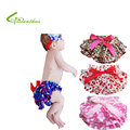 New Baby Ruffle Bloomers Layers Baby Girls Diaper Cover Newborn Dots Flowers Shorts with Skirts Toddler Cute Summer Satin Pants