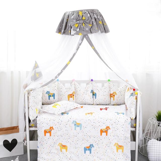 Gaya Istana Tempat Tidur Bayi Kelambu Bulat Atas Bayi Baru Lahir