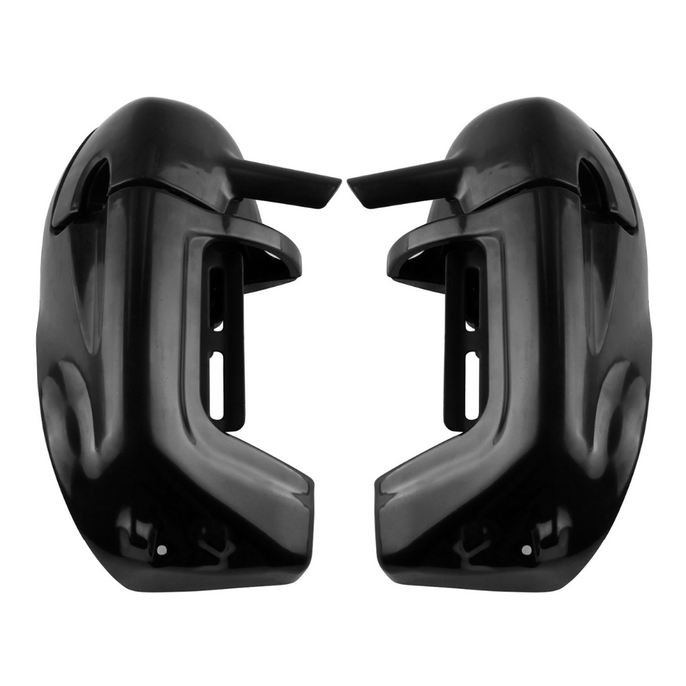 (Ship for US and DE )Black ABS Plastic Lower Leg Vented Fairing For Harley Davidson Touring FLHTC FLHRC vivid black lower vented fairing leg warmer for 2014 2015 2016 2017 harley touring