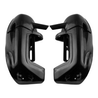 Ship For US And DE Black ABS Plastic Lower Leg Vented Fairing For Harley Davidson