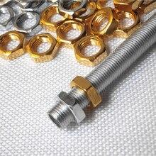 15 шт. 3,4, 5,6, 7 мм толщиной Золотой хром цвет M10 винт гайки шестигранные DIY