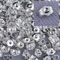 En vrac 1000 pièces véritable Fine 925 en argent Sterling résultats de bijoux retour bouchon pour goujons bijoux paramètres 925 LOGO