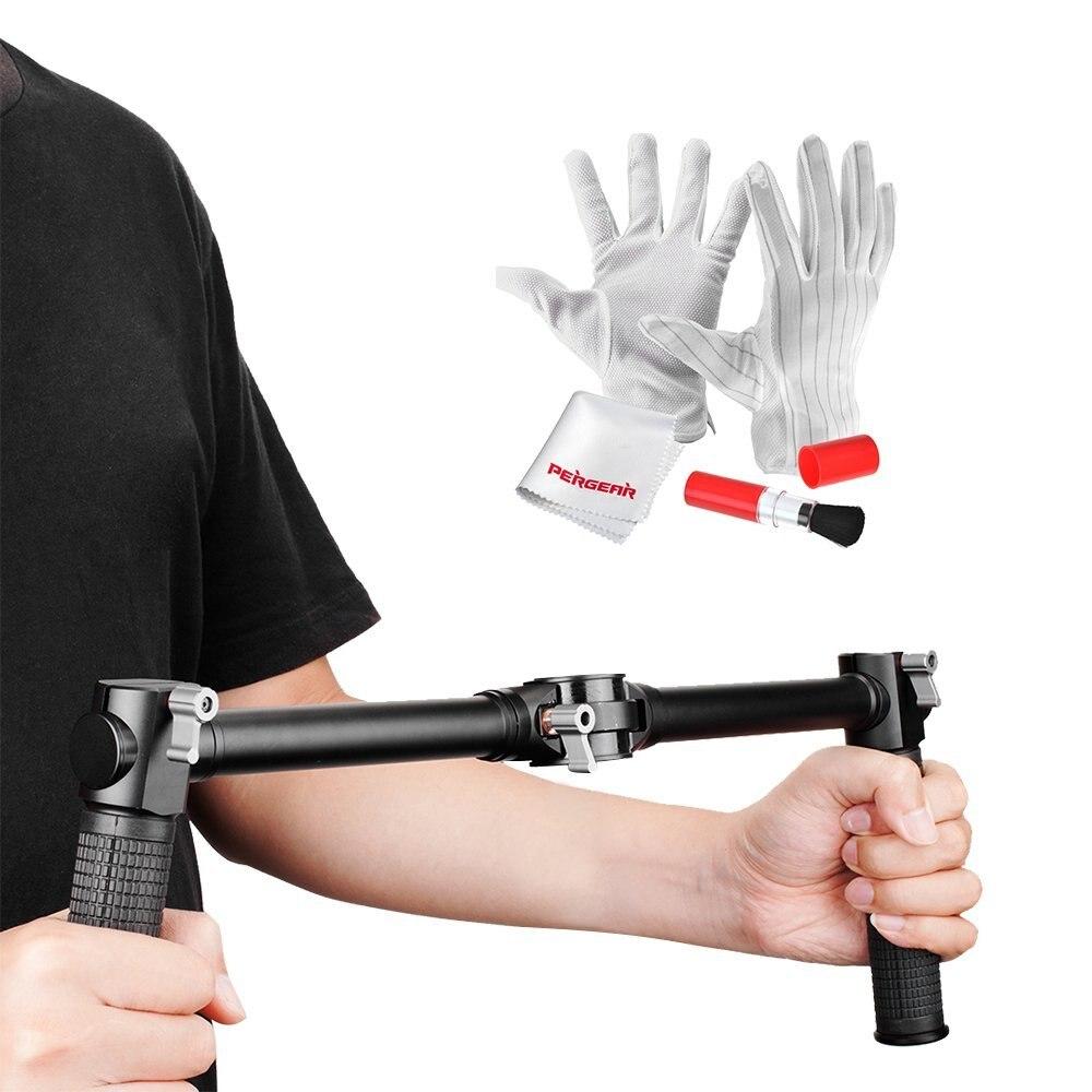 bilder für Zhiyun Dual Handheld Grip mit Reinigung Kit für Zhiyun Kran Zhiyun Kran-M 3-achsen Handheld Gimbal Stabilizer als Betrachters