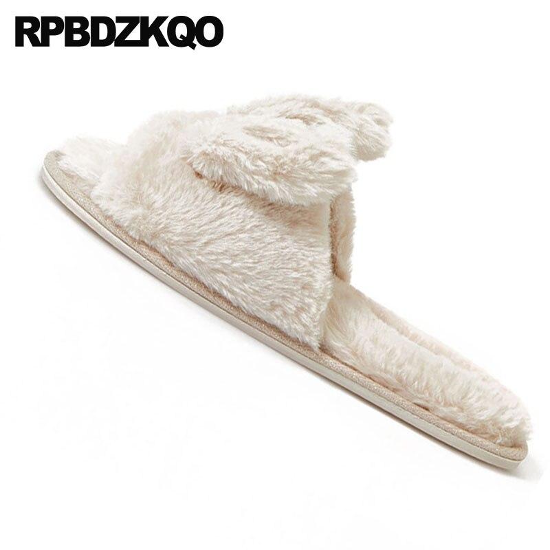 Maison Femmes Faux Coréenne Pantoufles Designer Taille Lapin Fuzzy Chaussures Diapositives Plus 2018 Brown De Fluffy La Chambre Luxe Light Grande À Fourrure Peluche L'intérieur ffYvP6q