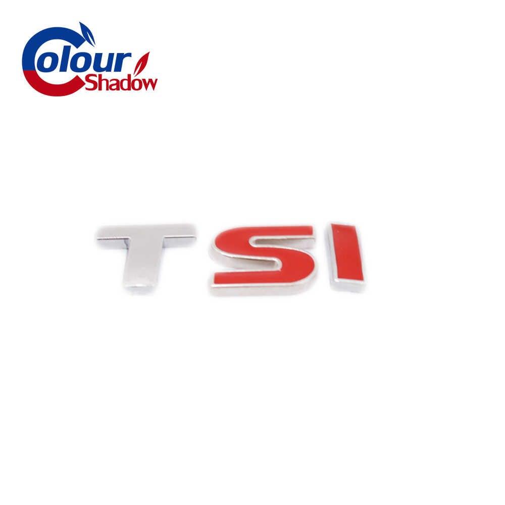 1 шт Красный TSI Металлическая Эмблема-наклейка на автомобиль переводная картинка стайлинга автомобилей Стикеры для Polo Golf 5 6 7 CC Passat B5 B6 бора