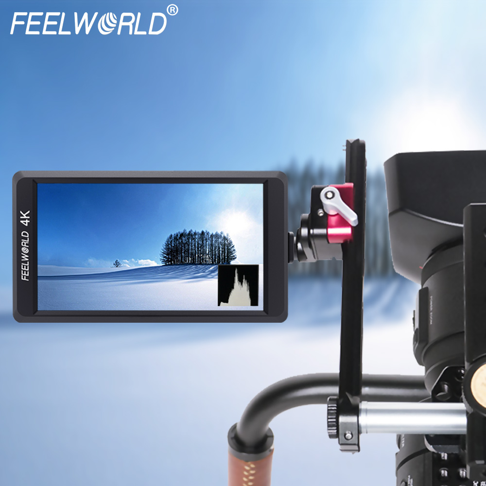 Feelworld F550 5.5 IPS 4K HDMI Full HD 1920x1080 Camera Field Monitor Mount Mat Stablizer for DSLR Gimbal Rig Black viltrox dc 70pro 4k 7 inches ips screen field video monitor 1080p full hd 1920x1200 support 4k input hdmi for dslr camera