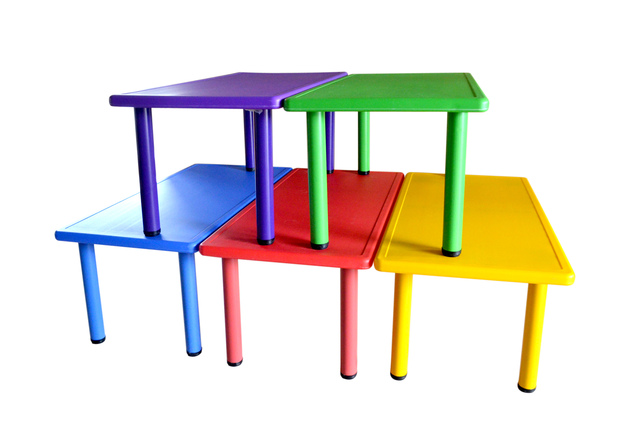 Beau Private Nursery Furniture For Children To Learn Tables And Chairs Plastic  Table Long Desk Games