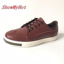 ShowMyHot/весенне-осенняя камуфляжная обувь с кожаной подошвой; обувь в Малайзию; британская обувь; Корейская мужская повседневная обувь