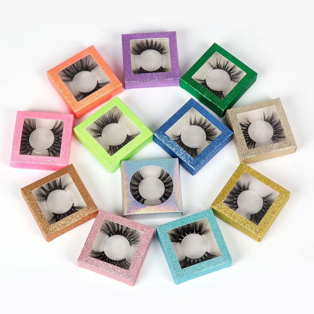 Square Packing Box For Eyelash Blank Eyelashes Plastic Package All Transparent Lid Tray Eyelashes DIY Soft Packing Box
