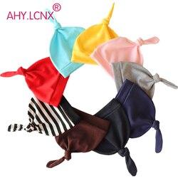 Короткая шапочка для новорожденных, хлопковая вязаная шапочка для маленьких мальчиков и девочек, богемные Шапки для малышей