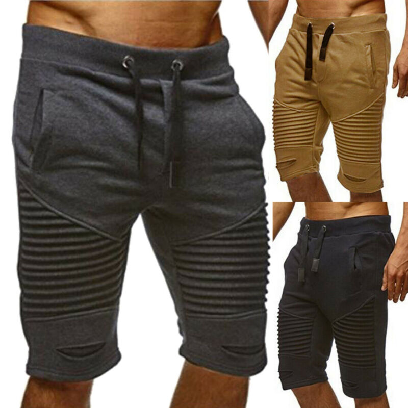 Mens Casual  Football Shorts Jogging Running Gym Sports Breathable Fitness Size M - 3XL
