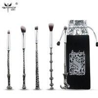 New Anmor 5 PCS Makeup Brush Set Synthetic Makeup Brushes With Brush Bag QT001