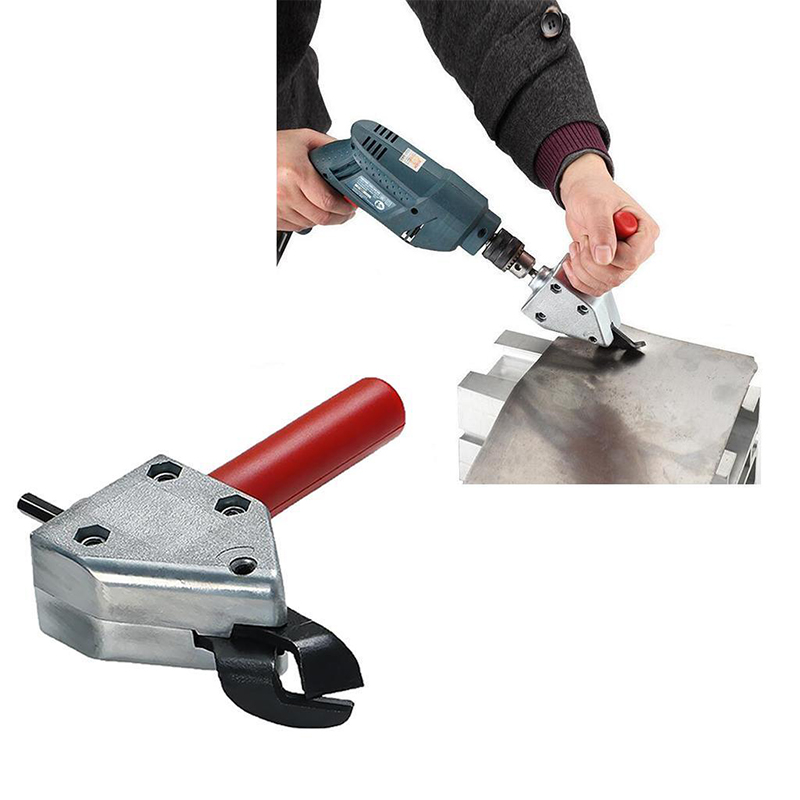 Metal Aluminium Cutting Sheet Nibbler Saw Cutter Tool Electric Drill Scissors