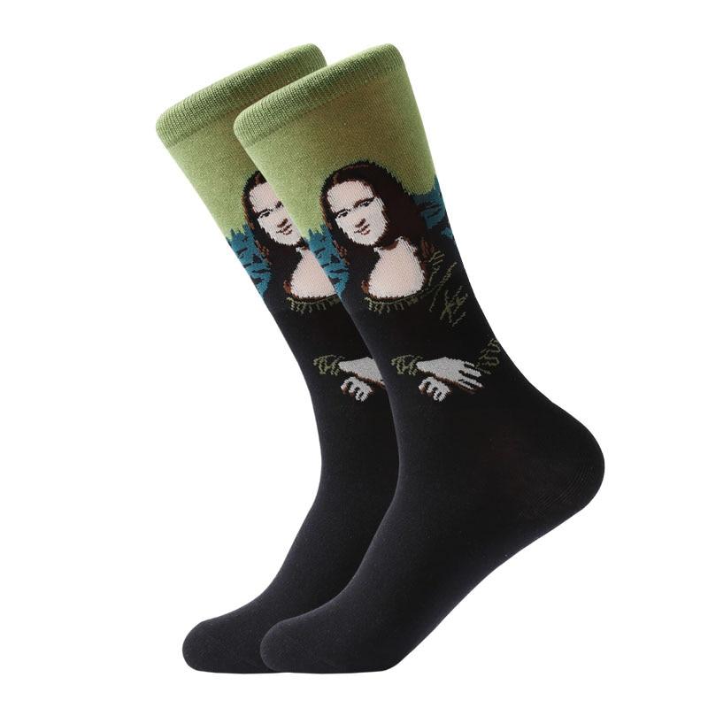Unisex Socks-Retro Art-Popular Paintings Patterns Stockings-Mona Lisa