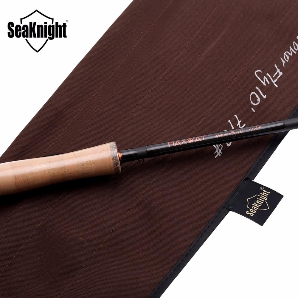 SeaKnight MAXWAY Serie Spey Honor 9/10 #4 Stukken 13FT 3.9 m 40 t Carbon 3A Zachte Houten Handvat FUJI ringen Fly Hengel - 5