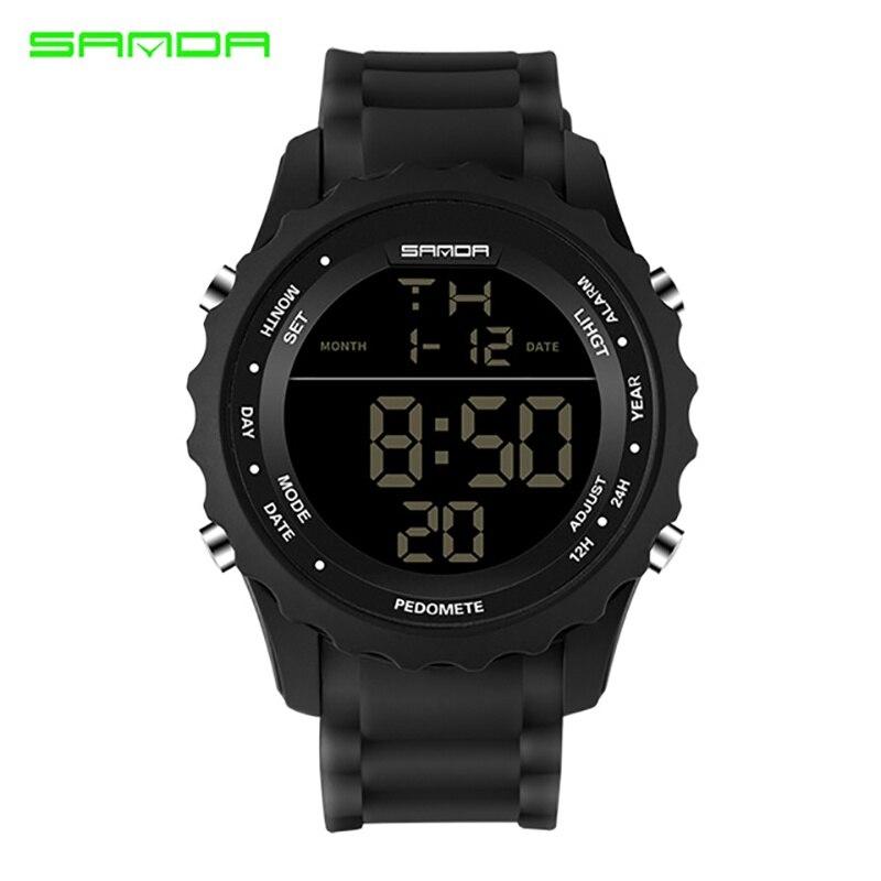 Waterproof Men Digital Watch Sport Multi Function Resistant Back Light Luminous Quartz Wristwatch Stopwatch Alarm цена и фото