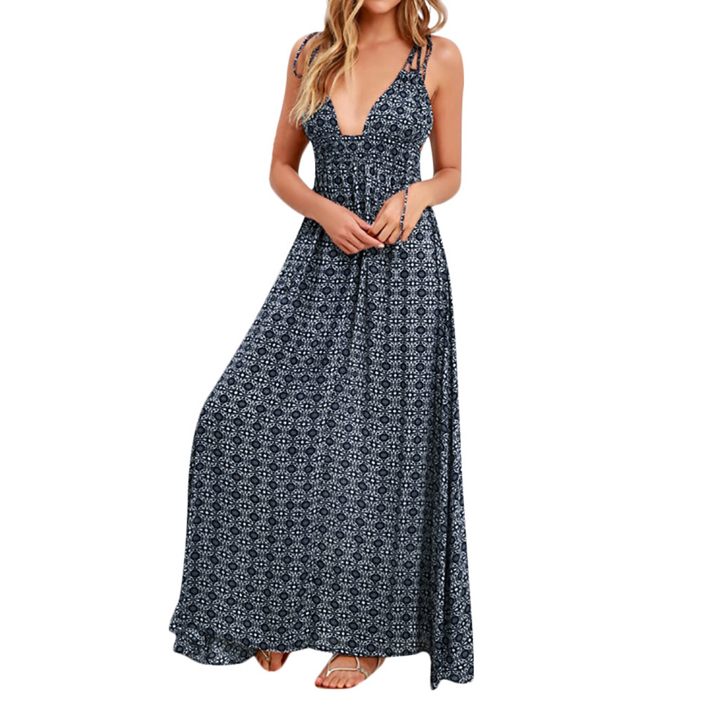 Dresses Sexy Bow Backless Polka Dots Print Beach Summer Dress Women 2019 New Cotton Fashion Casual Beach Holiday Sundress Dresses At All Costs