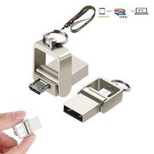 OTG USB флеш-накопитель, флешка для микро телефона, USB 2,0, мини-флешки, 128 ГБ, 32 ГБ, 64 ГБ, флешки, карта памяти