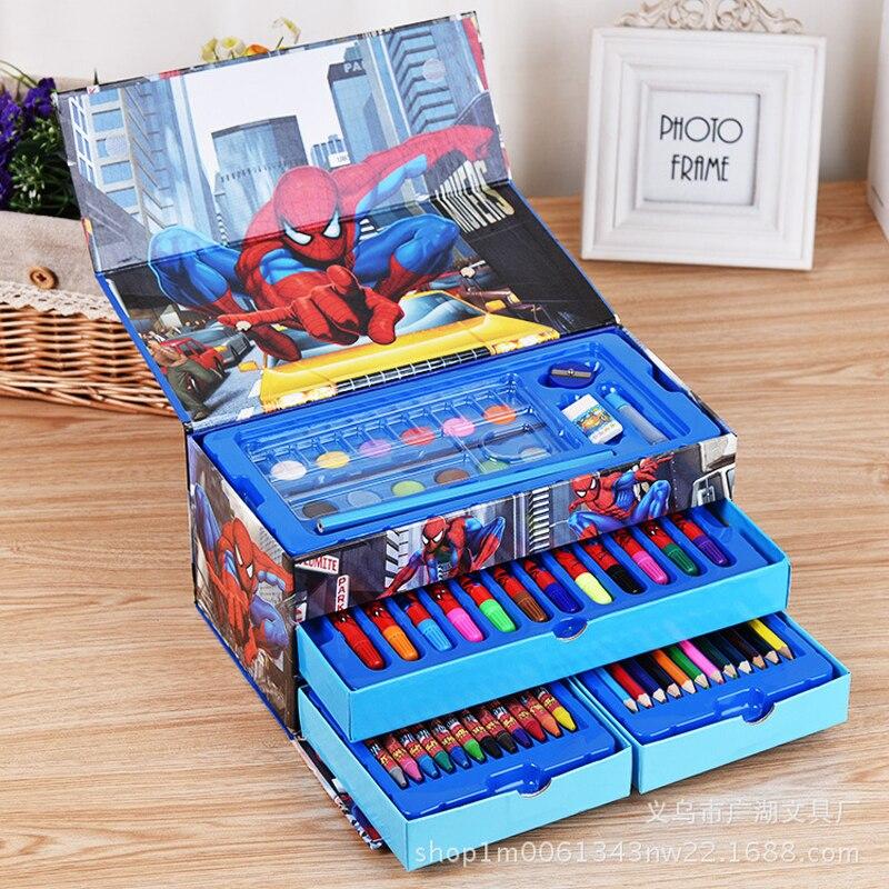Pupils watercolor painting suit suitcase combination brush pen gift stationery crayons brush children 54 color suit
