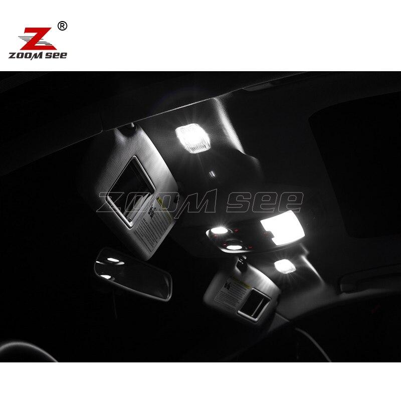 19 шт. X светодиодные лампы canbus Подсветка салона комплект+ зеркало+ передний выступ на потолке+ задние карты лампы для Audi Q7 4L Sport(2005