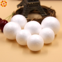 50PCS 30/35MM DIY White Foam Modelling Polystyrene Styrofoam Ball For Kids Gift Christmas Party Decorations Craft Supplies