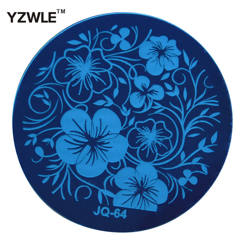 1 PC Fashion JQ64 Style Nail Art Stamp Stamping Plates Manicure Template, 75 Styles For Choose (JQ-64)