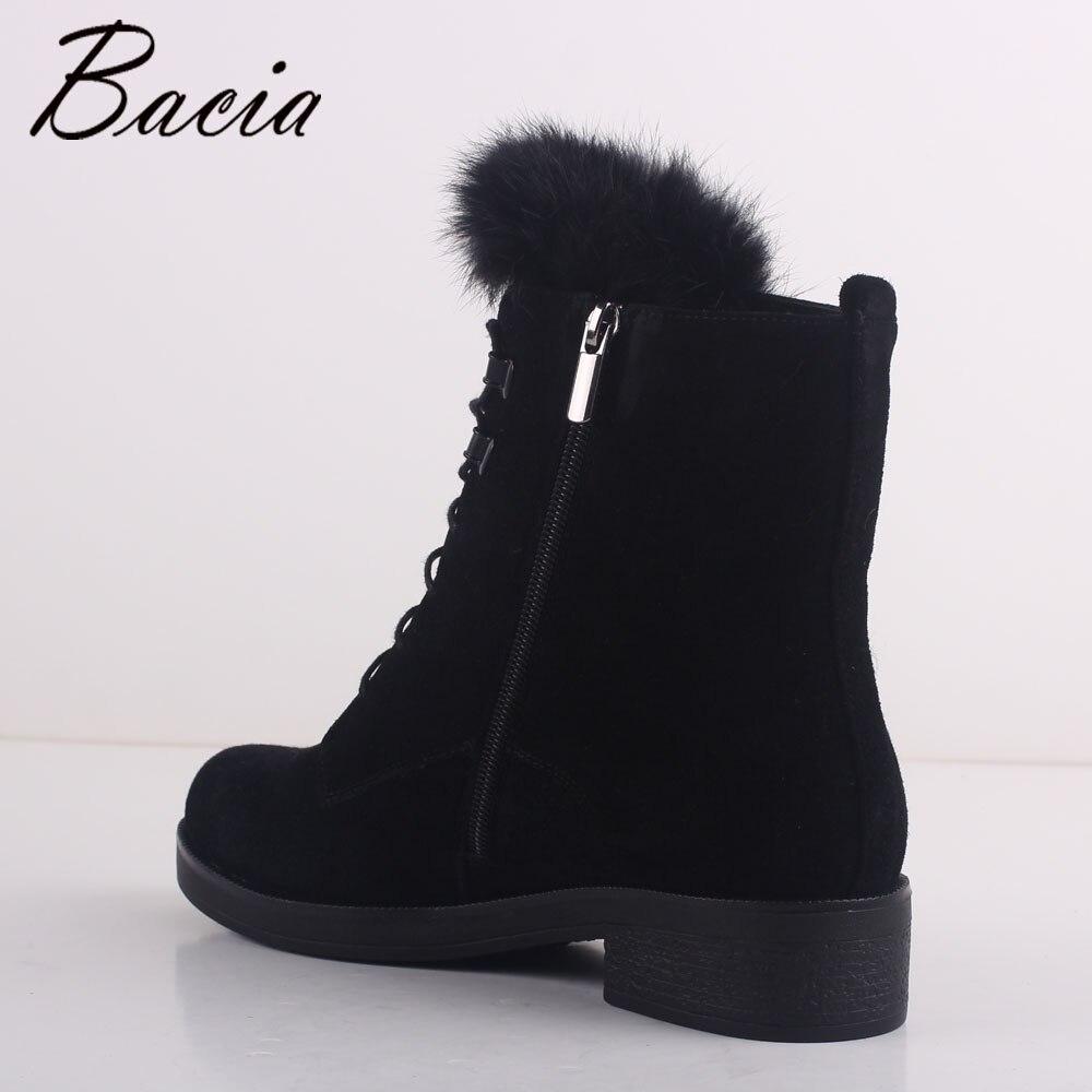 Billige Kaufen Bacia Wolle Pelz Warme Stiefel Schwarz Schafe